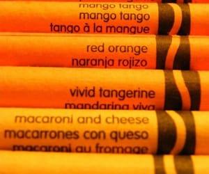 orange, aesthetic, and crayon image