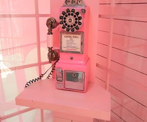 phone, pink, and retro image
