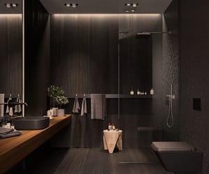 home, bathroom, and black image