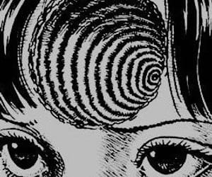 art, black and white, and uzumaki image