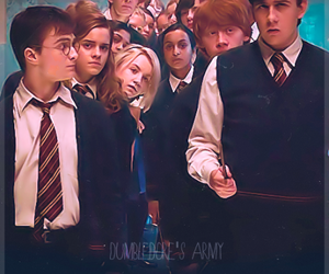 harry potter, daniel radcliffe, and dumbledore's army image