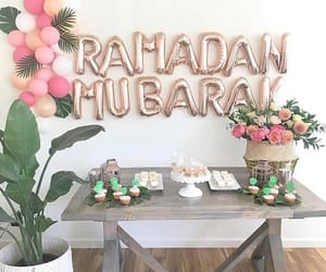 aesthetic, muslim, and green and pink image