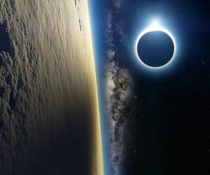 space and eclipse image