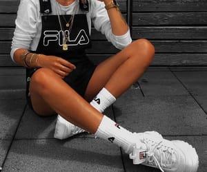 fashion, Fila, and outfit image