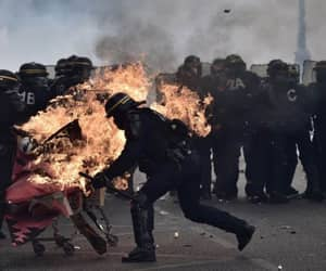 anarchy, demonstration, and paris image