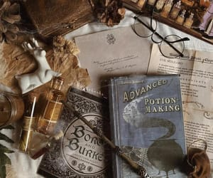 books, deer, and glasses image