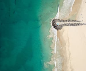 aerial photography, aerial view, and sea image