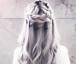 braid, hair, and platinum image