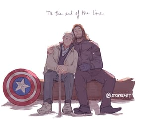 captain america, till the end, and stucky image