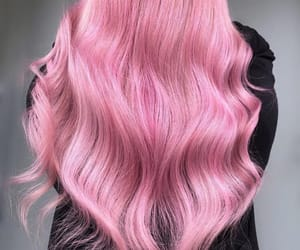 baby pink, black, and curly image