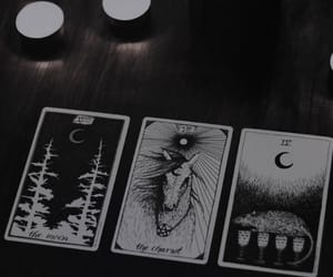 tarot, witch, and moon image