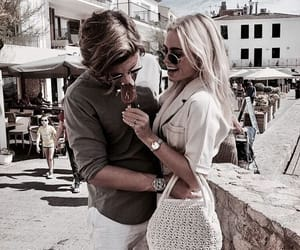 blonde, boyfriend, and clothes image
