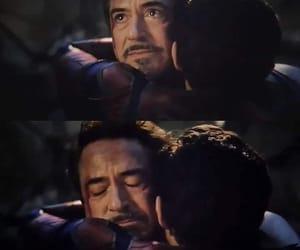 tony stark, peter parker, and avengers endgame image