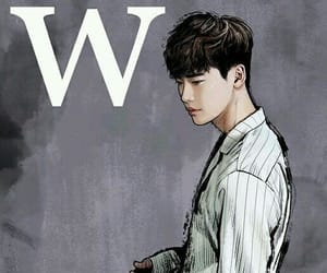 w, lee jong suk, and kdrama image