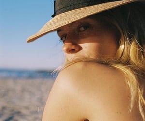 beach, blonde hair, and girl image