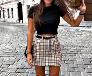 skirt, casual, and outfit image