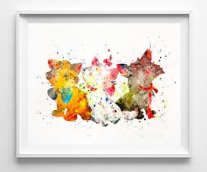 art print, kids art, and girlfriend gift image