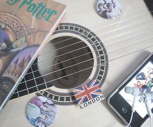 london, harry potter, and guitar image