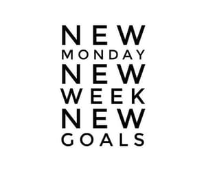 goals, monday, and quotes image