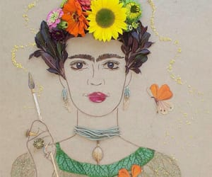 art, art work, and flores image
