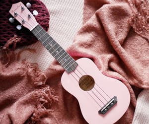 guitar, pink, and aesthetic image