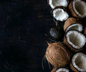 background, coconut, and food image