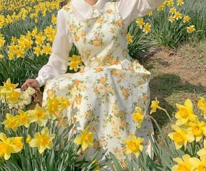 dress, spring, and yellow image
