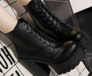 black, aesthetic, and shoes image