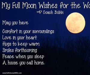 full moon, moon, and wishes image