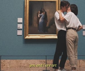 art, kissing, and love image