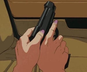 anime, gun, and aesthetic image