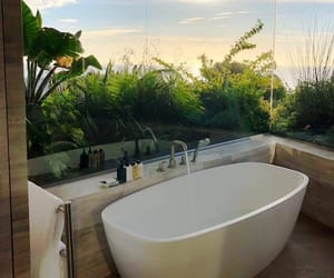 bathroom, home, and nature image