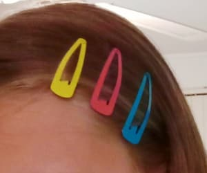 aesthetic, artsy, and barrettes image