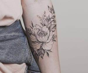 tattoo, flower, and aesthetic image