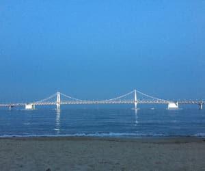 beach, bridge, and depression image