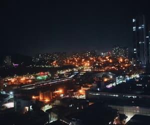 bright, city lights, and dark image
