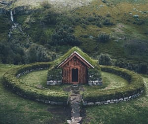 beautiful, hut, and landscape image