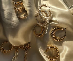 gold, accessories, and fashion image