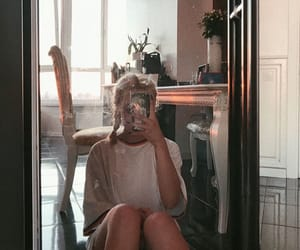 aesthetic, babe, and mirror selfie image