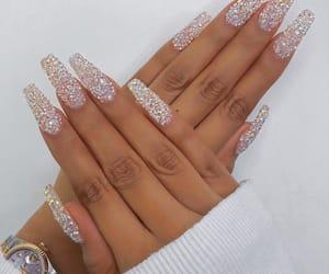 nails, fashion, and glitter image
