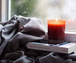 blanket, candle, and cozy image