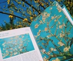 aesthetic, flowers, and van gogh image