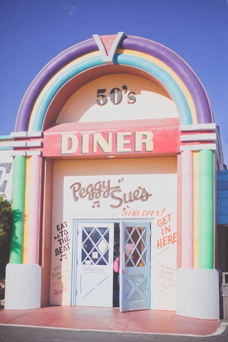 Vintage Diner Bistro Style Pastel Aesthetic
