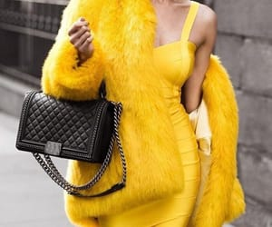 fashion, yellow, and chanel image