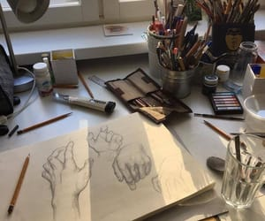 art, delicate, and hands image