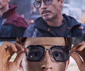 iron man, robert downey jr, and spiderman image