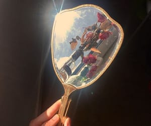 mirror, aesthetic, and flowers image