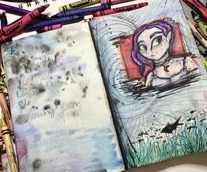 art, mermaid, and water image