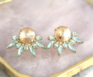 bridal jewelry, cluster earrings, and earrings image