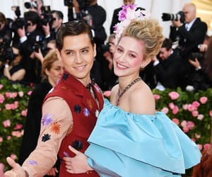 cole sprouse, met gala, and lili reinhart image
